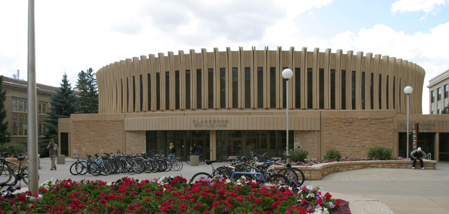 The front of the Classroom Building